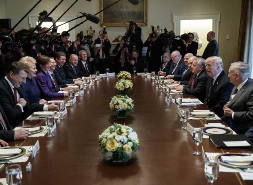 Hasil gambar untuk President Donald J. Trump's Support for Estonia, Latvia, and Lithuania
