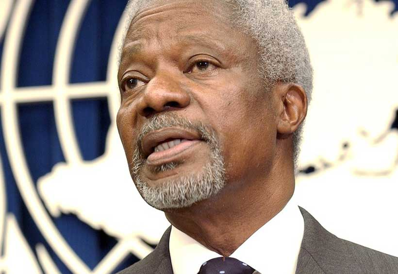 Kofi Annan, former United Nations secretary-general, dies at age 80