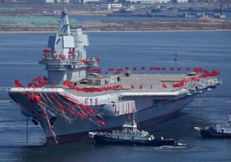 China's aircraft carrier Shandong sails through the region as a symbol of power over its neighbors
