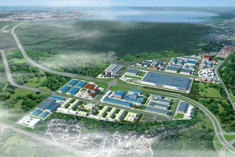industrial park.