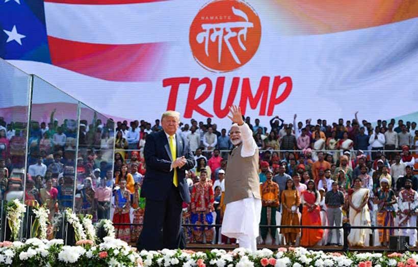 trump in india modi